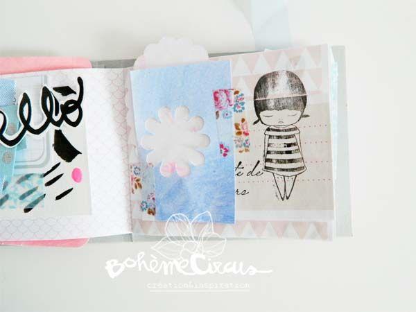 BohèmeCircus visual journal with Ashley Goldberg - AHA arts stamps