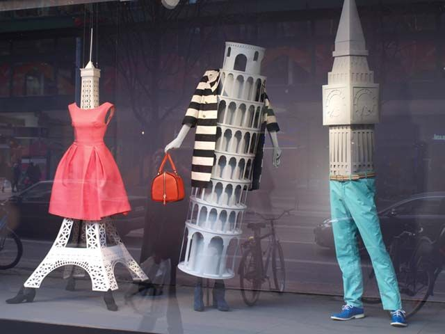 Creative of Mannequin Legs in a window display