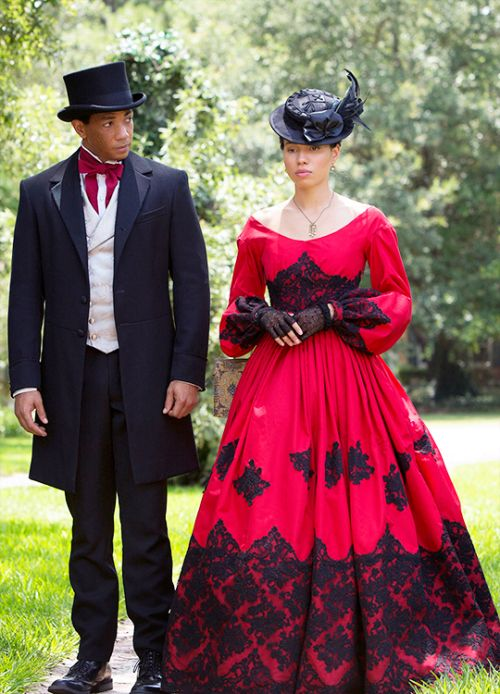 Cato and Rosalee - Alano Miller and Jurnee Smollett-Bell in Underground, set in the 1850s (TV series).