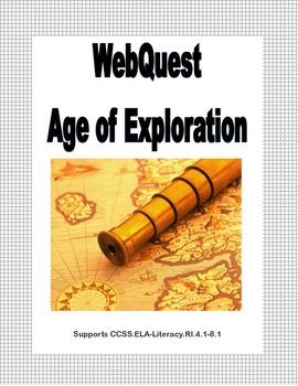 The Age of Exploration (also called the Age of Discovery) began in the 1400s and continued through the 1600s. It was a period of time when the European nations began exploring the world. They discovered new routes to India, much of the Far East, and the Americas.     Your students learn about this important time in history as they uncover facts  while learning to read for information and using research and computer skills. Supports CCSS.ELA-Literacy.RI.4.1-8.1 Answer Key included