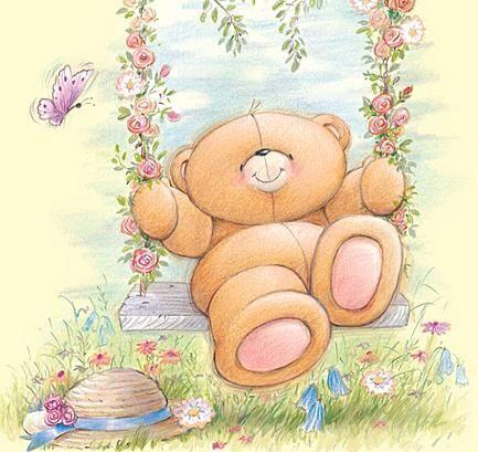 ♥ Forever Friends Bear Spring Swinging ♥                              …