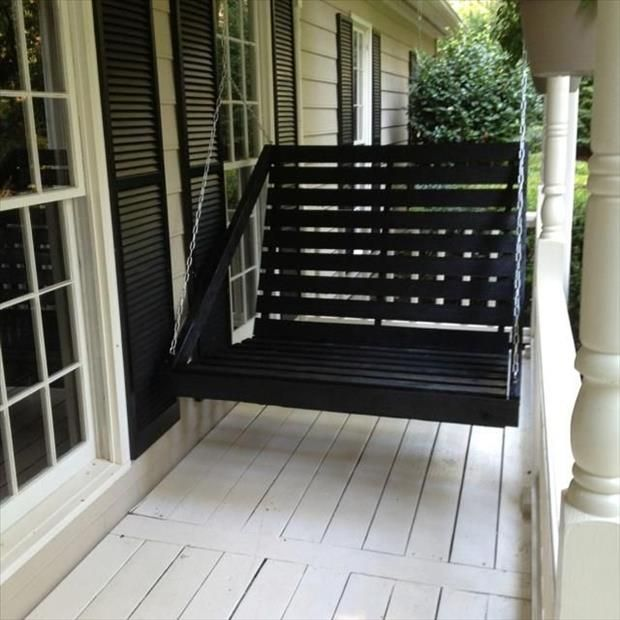17 best ideas about pallet porch swings on pinterest for How to make a pallet porch swing