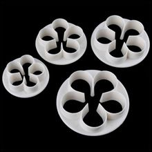 4 Pcs/lot Rose Cutter For Fondant Cake Decoration Bakeware Flower Cake Plunger Cut Mould Bakery Tools Kitchen Free Shipping 1671(China)