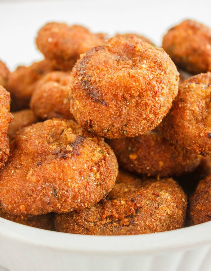 Breaded mushrooms get that true, crispy crust when deep-fried. Trust me, these deep-fried breaded mushrooms are the best out there!