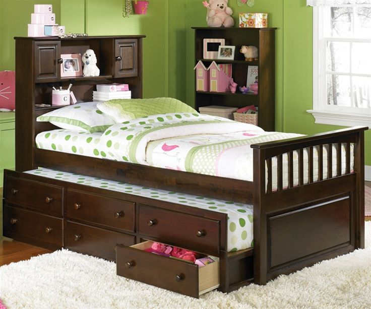 Atlantic Furniture Bookcase Antique Walnut Trundle Captains Bed Kids Bedroom Beds And Captain With Storage
