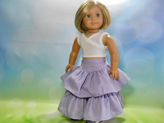 18 inch doll clothes 18 inch skirt and top 18 inch boho