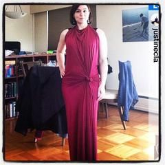 red maxi dress flatters all body types