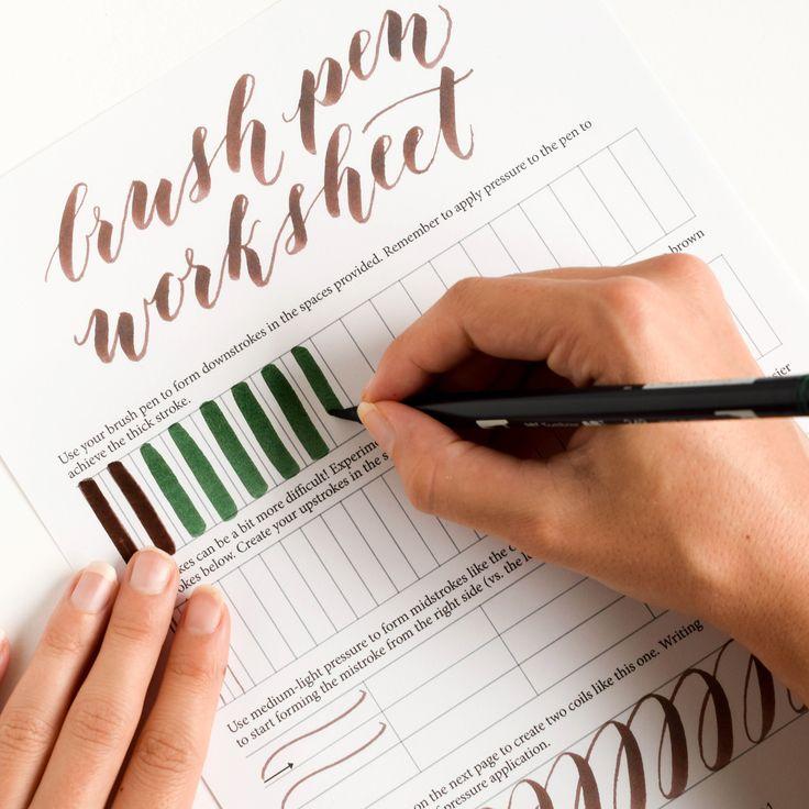 Best lettering hand brush images
