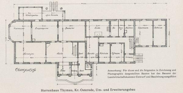 Thymau, Herrenhaus, Grundriss des Obergeschosses