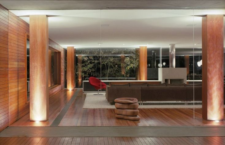 Contemporary Wood Interior Design Br House