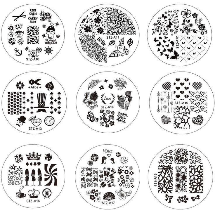 Buy 10pcs New Flower Nail Art Image Stamping Plates Nail Stamp DIY Tips Polish Templates Stencil Manicure Tools STZA01-30 at JacLauren.com
