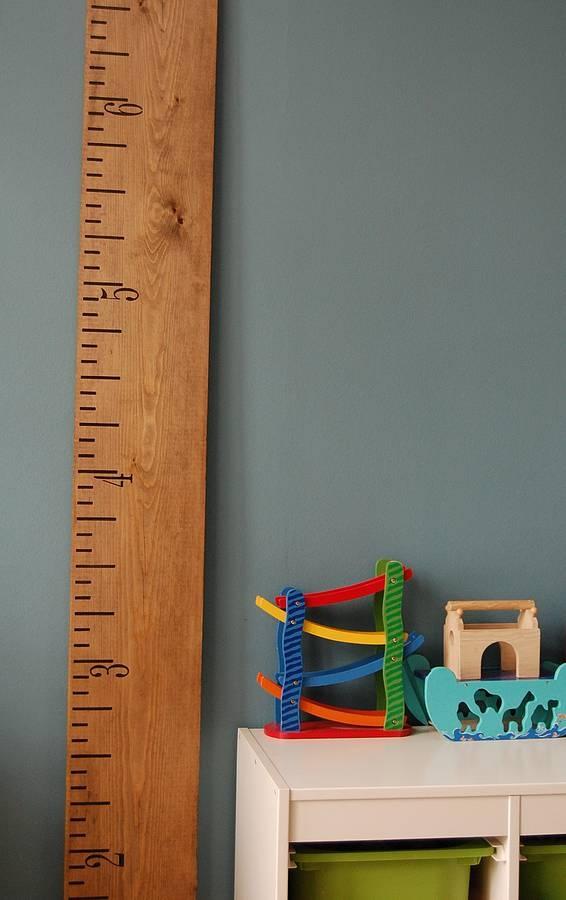 Kids Rule Mid Oak Height Chart  by Lovestruck Interiors