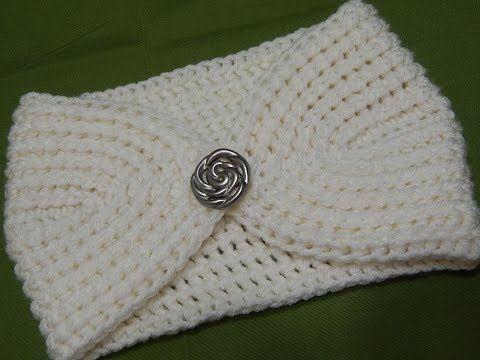 M Cómo tejer una cinta turbante / diadema de lana en telar (Tutorial DIY) - YouTube
