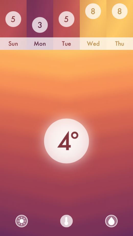 Haze Local Current Temperature Display 520x923 19 apps that already look perfect for iOS 7
