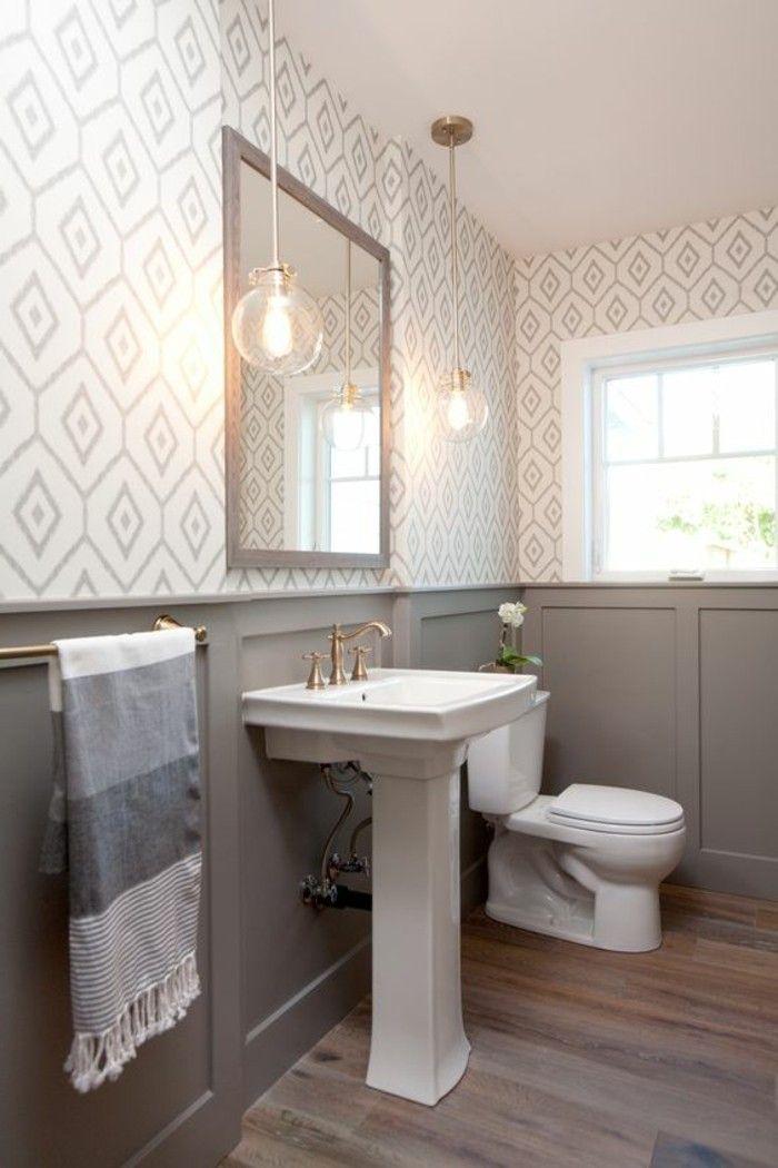Tapeten Ideen Fur Eine Ausgefallene Wandgestaltung Badezimmer Badezimmer Renovieren Kleine Badezimmer
