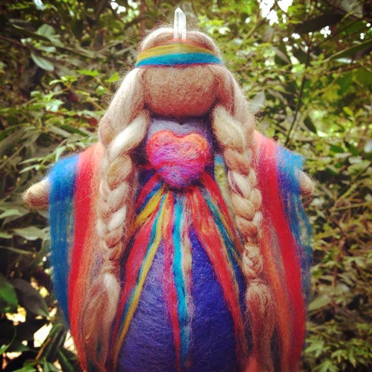 Absolutely beautiful Healing Medicine Doll: 'I am Love, You are Love', created by the talented Julia Inglis of Sacred Familiar.