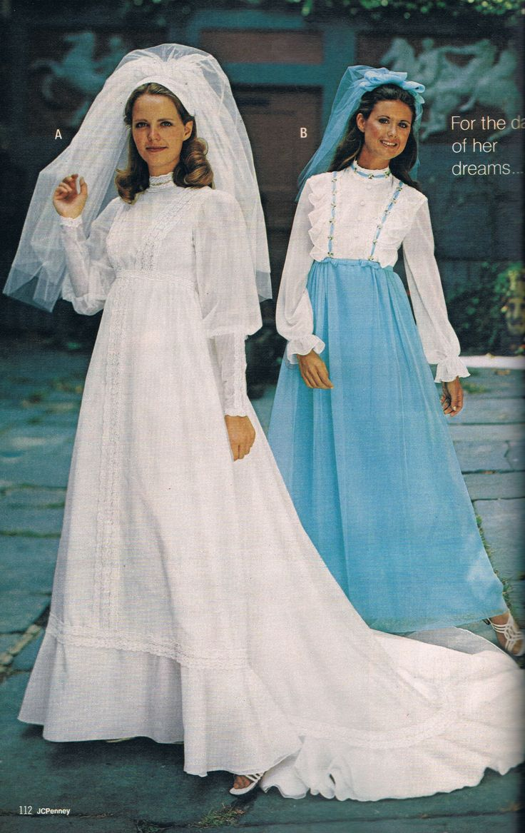 Penneys catalog 1973 Bridal gowns vintage, Wedding gowns