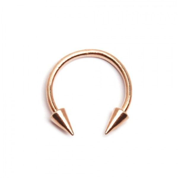 Septum Ring Rose Gold KRMA (47 AUD) ❤ liked on Polyvore featuring jewelry, piercings, accessories, noserings, pink gold jewelry, rose gold jewelry, rose gold jewellery, spike jewelry and red gold jewelry  andrew raynor