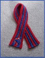 Free Crochet Pattern: Spiderman Inspired Scarf Crochet Direct Kids Patter...