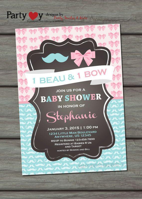 twins baby shower invitation boy girl baby by partyinvitesandmore