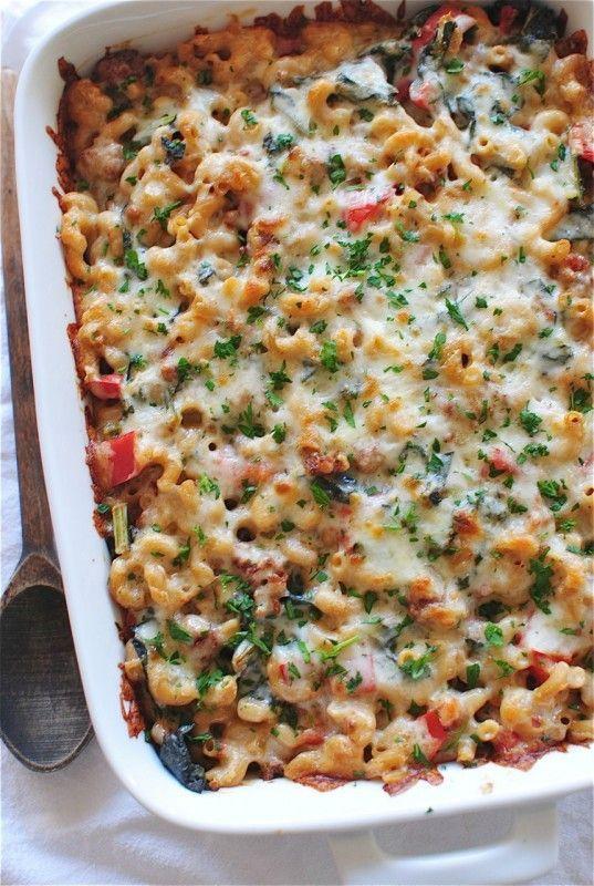 Sausage and Kale Pasta Bake. | food. | Pinterest