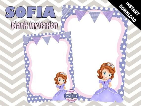 Sofia The First Invitation Templates Sofia The First Blank Birthday Invitation Invitation Template Birthday Invitation Templates Printable Invitation Templates