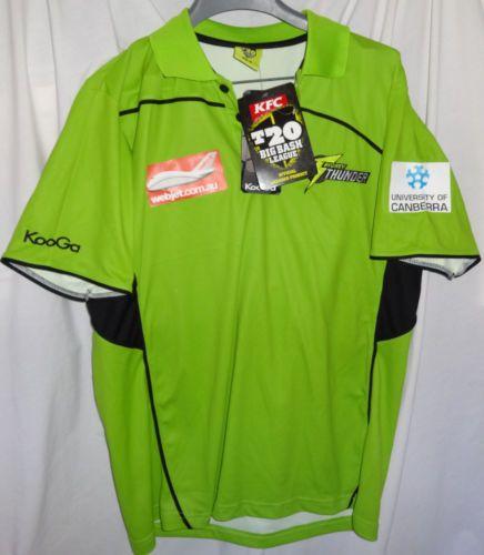 Sydney Thunder Mens Bbl Australian Cricket Media Polo Shirt Sz M Nwt