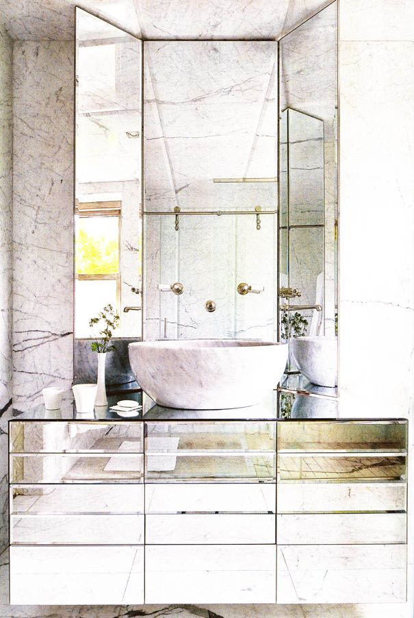 Marble: Bathroom Design, Mirror Mirror, Guest Bathroom, Bathroom Vanities, Dreams Bathroom, Bathroom Ideas, Mirror Vanities, Powder Rooms, Mirror Bathroom