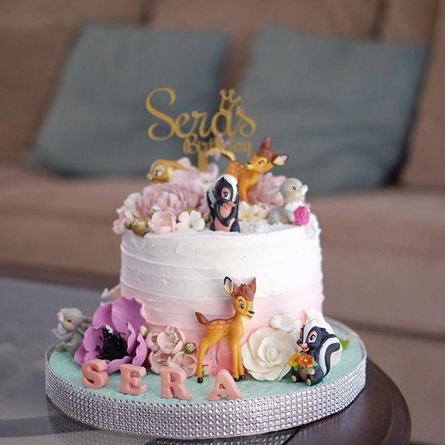 Birthday cake  #toddlerbirthday #birthdaycake #toddler #birthday #bambicake #rabbitcake