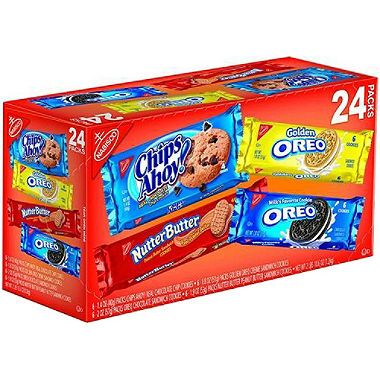 Nabisco Cookie Variety Pack - 24 ct. $8.98 cookie monster's cookies