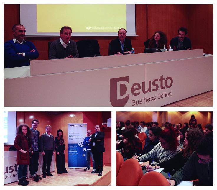 AGVestudio en las conferencias de Deusto-emprende