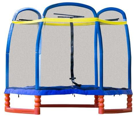 SkyBound Super7 7ft Indoor/Outdoor Trampoline with Full Enclosure…