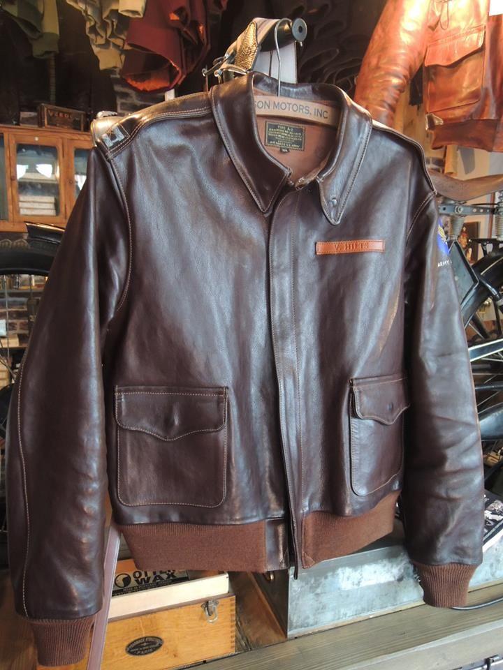 Capt. V.Hilts - Steve McQueen A2 jacket Rough Wear 27752 horsehide by BILL KELSO MFG http://www.billkelsomfg.com/