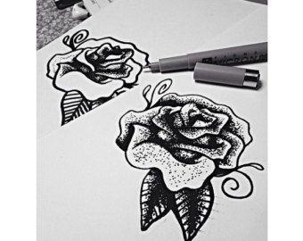 RESERVADO para Torreclark pavo real dibujo tinta tatuaje