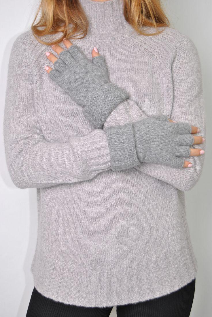 Image result for santacana light grey fingerless gloves