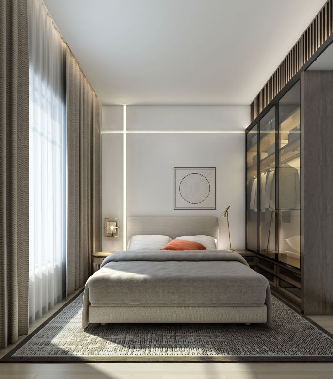 Minimalist Bedroom In 2020 Small Modern Bedroom Unique Bedroom Design Small Bedroom