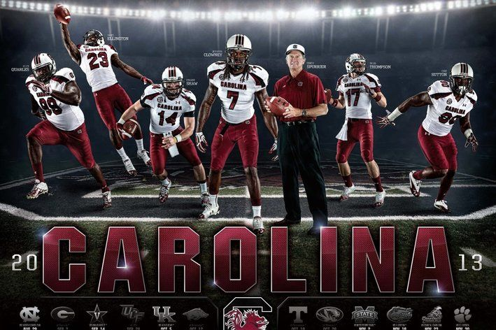 Posterized: A Tale of Street Intimidation starring the 2013 South Carolina Football Poster - Garnet And Black Attack