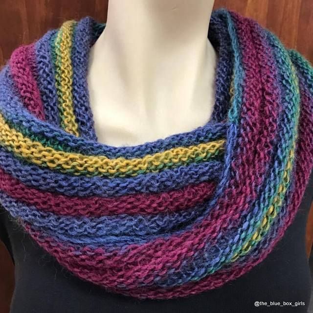 Knitted Cowl Scarf using King Cole Riot yarn