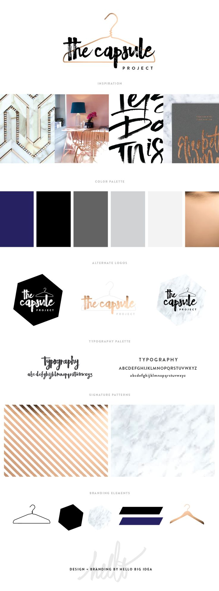 the capsule project style guide brand blog design by hello big idea