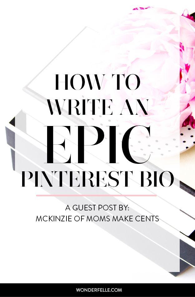 How to Write an Epic Pinterest Bio