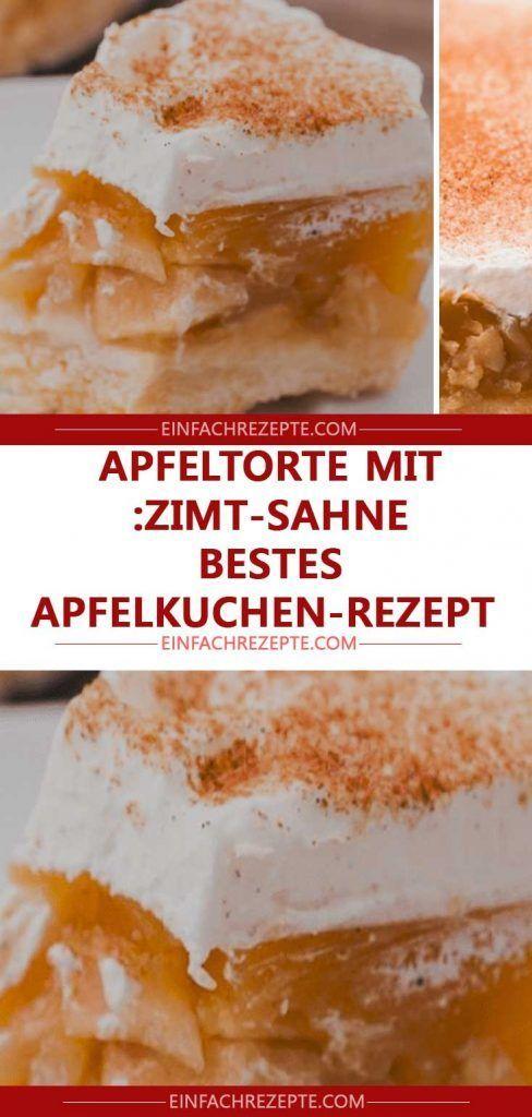 Apfelkuchen mit Zimtcreme: Bestes Apfelkuchenrezept 😍 😍 😍   – Backideen & mehr ‼️