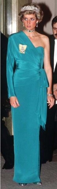 14 July 1988 Diana at a Banquet at Claridges hosted by the President of Turkey, Kenan Evren