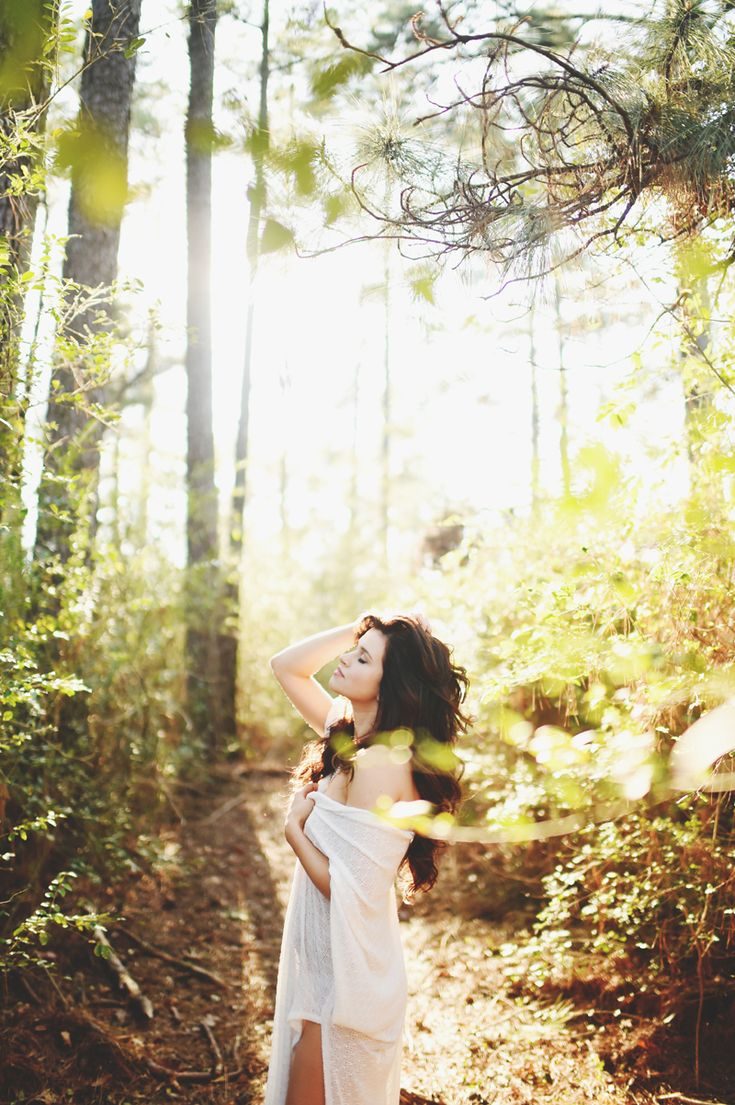 Ethereal Forest Boudoir Shoot - Image seen on www.laceinlight.com - Photo By Stephanie Parsley Photography