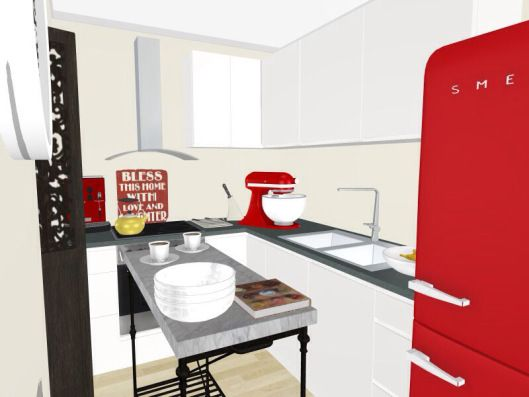 3d floor plans - konstadina nastou decorator-Greece-http://kinteriorsblog.wordpress.com/ #floorplans #roomsketcher #kitchen #smeg #home