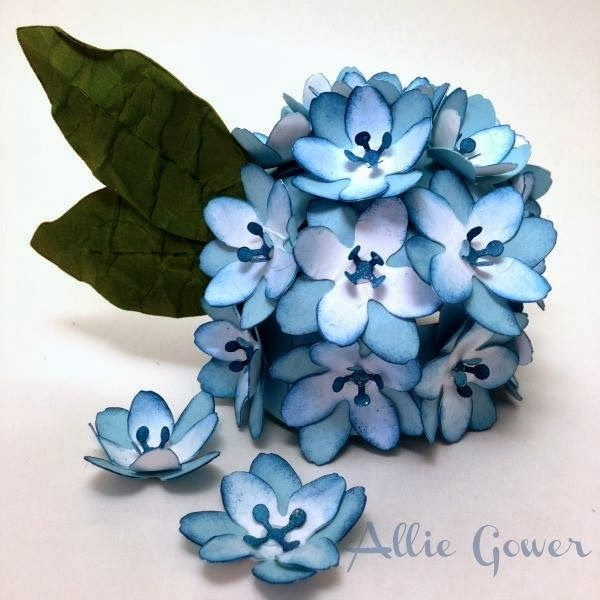 Bits of Paper: 3D Carnation and Hydrangea Paper Flowers