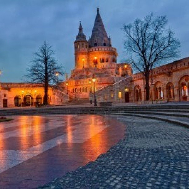 Fisherman's Bastion in dusk. #budapest #hungary #europe #travel