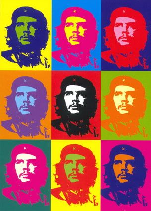 Che Guevara, NOT by Andy Warhol - the popular forgery is by Gerard Malanga!