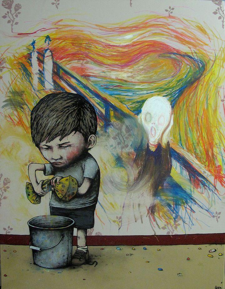 Dran, le 'Banksy français' qui ne vous laissera pas de marbre - The Brainwasher