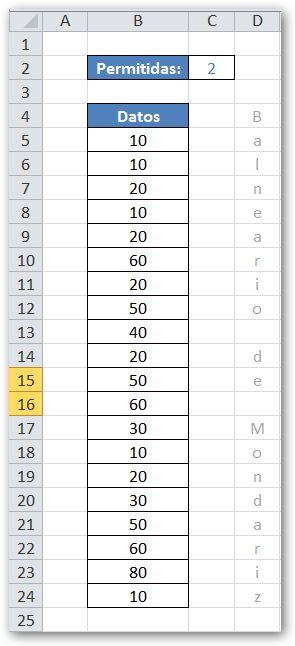 La Rebotica de Excel: Destacar Datos Repetidos más de n veces
