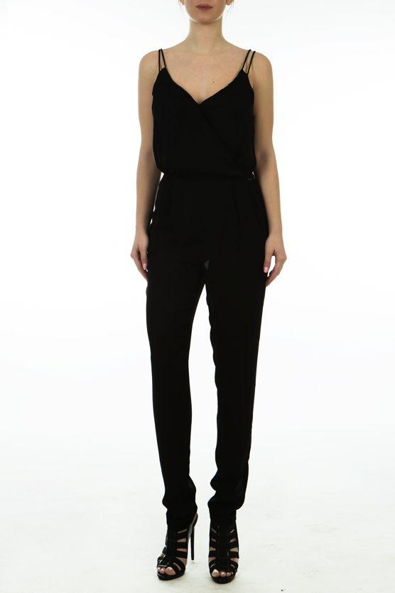 Pepe Jeans Dana ολόσωμη φόρμα με κρουαζέ μπούστο και λεπτές τιράντες